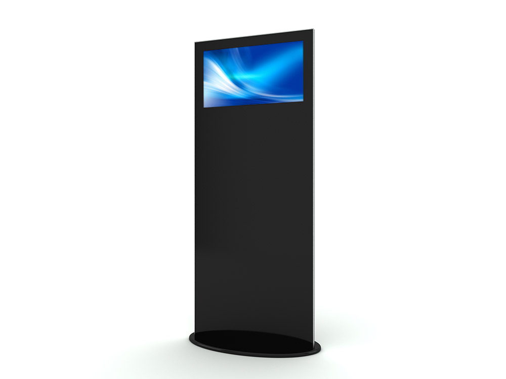 Interactive Digital Kiosks - Lamina 28 black front-side