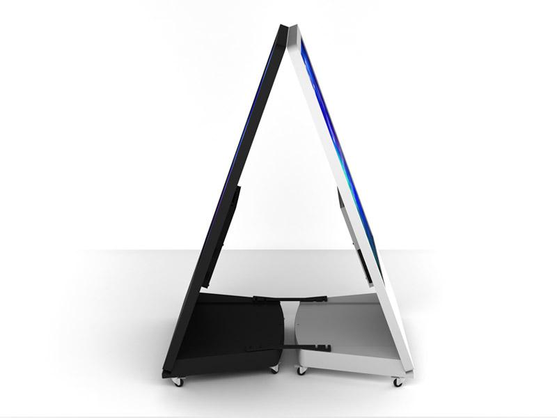 Interactive Digital Kiosks - sandwich board config