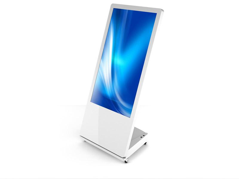Interactive Digital Kiosks - sandwich board white 3 quarter view