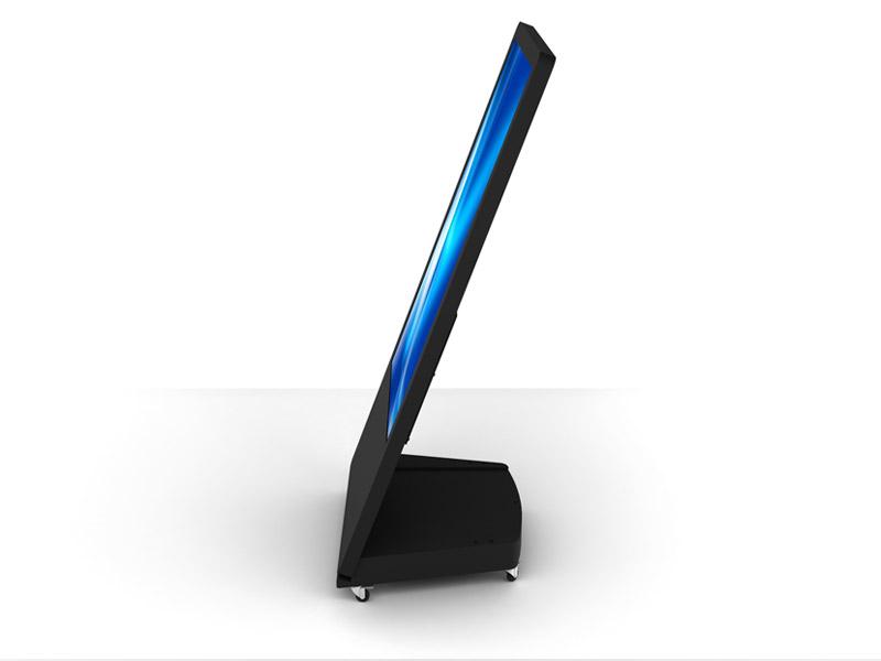 Interactive Digital Kiosks - Sandwich board side view