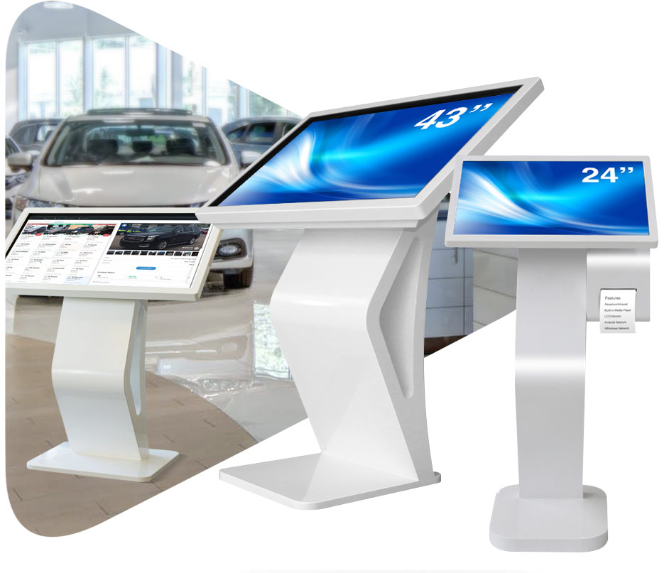 ANGLED TOUCH INTERACTIVE KIOSK