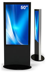 lamina double sided interactive kiosk