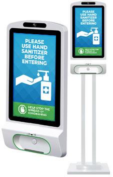 hand sanitizer kiosk nav