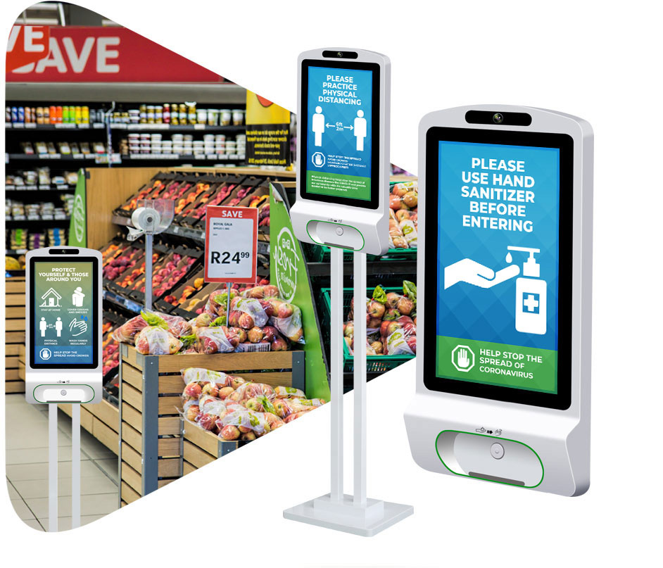 hand sanitizer kiosk header