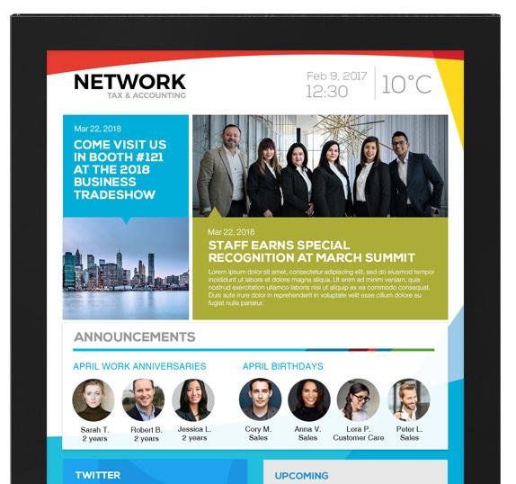 Corporate Communications Interactive Kiosk